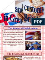 Food and customs in Great Britain