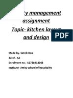 Satvik dua Batch A facility management assignment