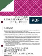 Junta de Representantes de LL.CC.HH. (viernes 14 de agosto del 2020)