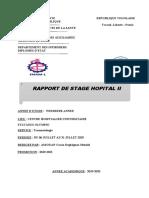 Rapport de stage Hopital II