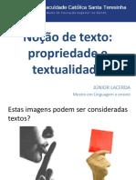 Slides sobre texto
