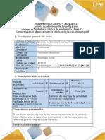 Guía - Fase 2 - Comprendiendo algunos marcos teóricos de la psicología social