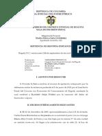 2009 10576 01 - Bladimir Ariza Forero - Homicidio culposo - Confirma