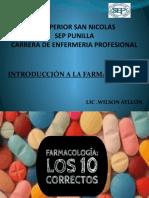FARMACOLOGIA LOS 1O CORRECTOS