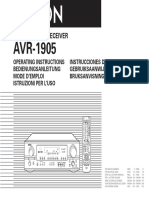 Denon-AVR-1905-Owners-Manual