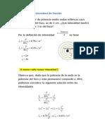 Problemas sonoras intensidad- Fisica 2