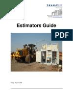 2008 May Transtank Estimators Guide