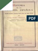 9. Fraile Guillermo Historia de La Filosofía Española I