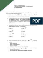 CEFET Química - Lista de Recuperação 1