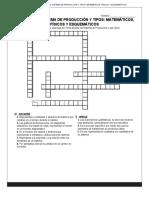 MODELO DEL SISTEMA DE PRODUCCIÓN Y TIPOS_ MATEMÁTICOS, FÍSICOS Y ESQUEMÁTICOS