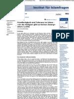 Institut für Islamfragen der Evangelischen Allianz in Deutschland, Österreich, Schweiz_ Friedfertigkeit und Toleranz im Islam -