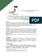 PRISÃO APÓS CONDENAÇÃO EM 2ª INSTANCIA - TCC