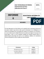 Informe Práctica 6