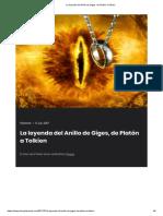 2017-7 La Leyenda Del Anillo de Giges, De Platón a Tolkien (J. Álvarez)