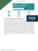 Biografia de Honoré Riqueti de Mirabeau