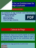 1. - Componentes de riego tecnificado TUTORIA