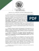 SALA CONSTITUCIONAL sentemcia n° 77