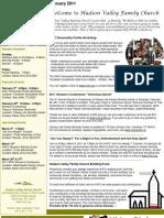 Hudson Valley Family Church -  February 2011 Bulletin