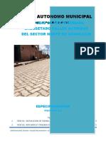 Especificaciones Tecnicas Enlosetado zona Norte Achacachi