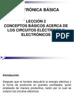 LECCIÓN 02. CONCEPTOS BÁSICOS ACERCA DE LOS CIRCUITOS ELÉCTRICOS Y ELECTRÓNICOS