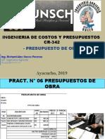 PRACT. N° 06 PRESUPUESTO DE OBRA.pptx