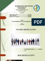 no discriminacion, no estigmatizacion
