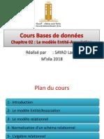 Cours BDD - 02 - Modéle Entité Assocations - M.Sayad Lamri