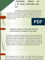 presentacion Banco Atlántida lidera la colocación de bono soberano