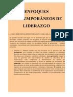 ENFOQUES DE LIDERAZGO