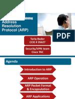 Cisco TAC Entry Training - 3 - Address Resolution Protocol (ARP)