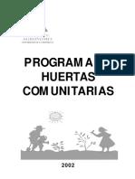 Programa de huertas comunitarias