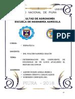 METODO DE COWAN RIO PIURA