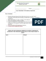 3.5 FA 4 - Art of Disturbation (Presentation of Arguments)
