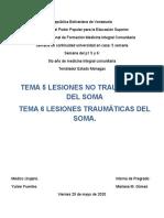 SEM 5. Tema  5 y 6 AFECCIONES TRAUMÁTICAS Y NO TRAUMÁTICAS DEL SOMA