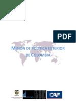 Mision de Politica Exterior de Colombia - Politicas Publicas