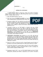 affidavit of witness palma