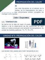 Unidad N°4 Propagacion del Calor
