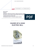 Causes of a High Electric Bill _ Allen Electric