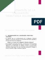 DETERMINACIÓN DE LA OBLIGACIÓN TRIBUTARIA ADUANERA