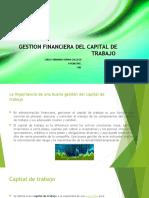 GESTION FINANCIERA DEL CAPITAL DE TRABAJO  LUISA FERNANDA OSPINA GALLEGO
