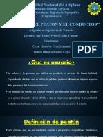 GRUPO Nº  1  EL USUARIO, EL PEATON Y EL CONDUCTOR