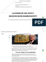 Lecciones de vida, éxito y negocios según Warren Buffett