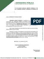 Exemplo de petição protocolada pelo site do TJRJ