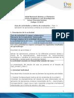 Guía de actividades y rúbrica de evaluación - Unidad 2 - Fase 3 - Aplicación de operaciones unitarias en procesos lácteos