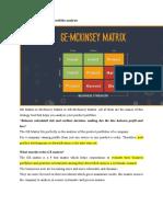 GE Matrix -an article