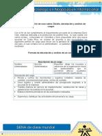 Evidencia 1 Solución de caso sobre Diseño descripción y análisis de cargos