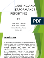 AUDITING AND REPORTING SOCIAL PERFORMANCE 1