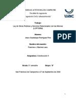 2a. Actividad Cuales son los Art. en la Ley de Obras Publicas Jesus Gpe. Rodriguez Pino.docx