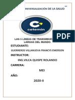 LAS 5 LINEAS DE TRANSMISIÓN MAS LARGAS DEL MUNDO..docx