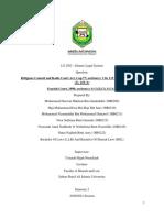 LS 2302 - Religious Council and Kadis Court Act & Syariah Court Act.